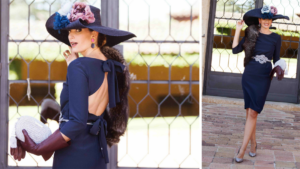 Look invitada boda: blue elegance
